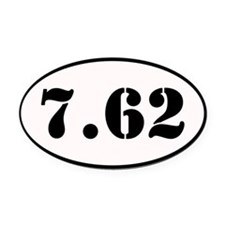7.62 Shooter Decal Oval Car Magnet
