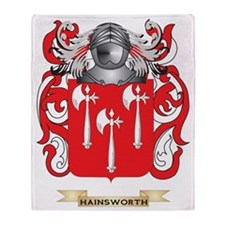 Hainsworth Coat of Arms (Family Cres Throw Blanket