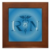 RN Nurse Caduceus Framed Tile
