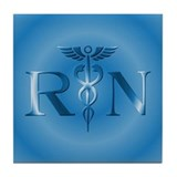 RN Nurse Caduceus Tile Coaster