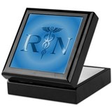 RN Nurse Caduceus Keepsake Box