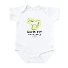 Daddy, buy me a pony Infant Bodysuit