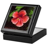 Red/Orange Hibiscus #2 Art Keepsake Box