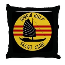 Tonkin Gulf Yacht Club Throw Pillow