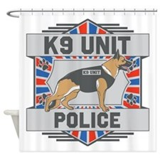Custom German Shepherd K9 Unit Police Shower Curta