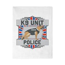 Custom German Shepherd K9 Unit Police Twin Duvet