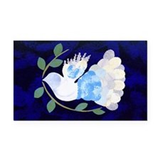 Peace Spirit Dove Rectangle Car Magnet