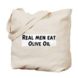 Men eat Olive Oil Tote Bag