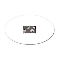 bichon 20x12 Oval Wall Decal