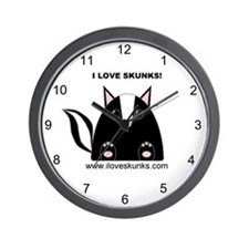 I Love Skunks Wall Clock
