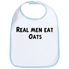 Men eat Oats Bib