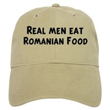 Men eat Romanian Food Baseball Cap