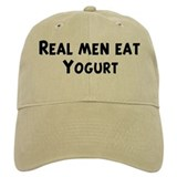 Men eat Yogurt Baseball Cap