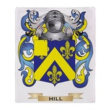 Hill Coat of Arms (Family Crest) Throw Blanket