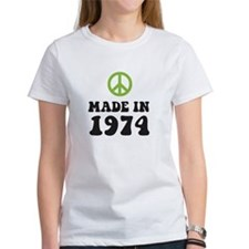 Made In 1974 Peace Symbol Tee