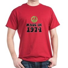 Made In 1974 Peace Symbol T-Shirt