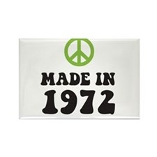 Made In 1972 Peace Symbol Rectangle Magnet