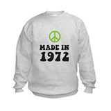 Made In 1972 Peace Symbol Sweatshirt