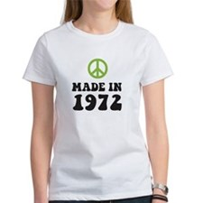 Made In 1972 Peace Symbol Tee
