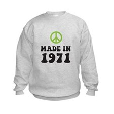 Made In 1971 Peace Symbol Sweatshirt