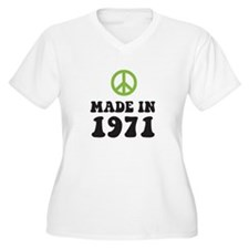 Made In 1971 Peace Symbol T-Shirt