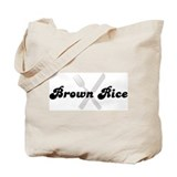 Brown Rice (fork and knife) Tote Bag