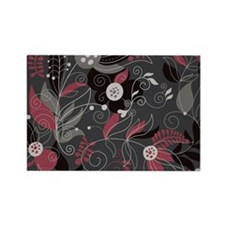 Elegant Floral Rectangle Magnet