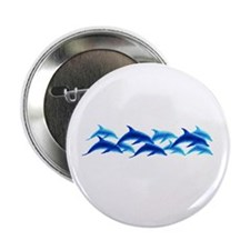 "dancing dolphins 2.25"" Button (10 pack)"