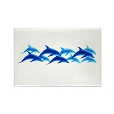 dancing dolphins Rectangle Magnet