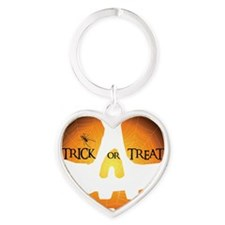 Trick or Treat Jack OLantern Heart Keychain