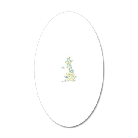 Pride and Prejudice Map 20x12 Oval Wall Decal