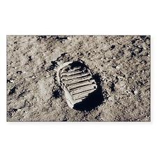 Apollo 11 Bootprint Rectangle Decal