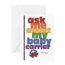 ask me - I don't bite. Greeting Card