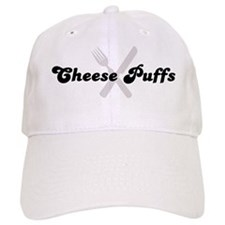 Cheese Puffs (fork and knife) Baseball Cap