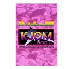 KJEM Radio EQ Pink Logo p Postcards (Package of 8)