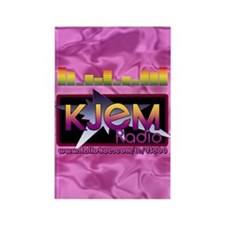 KJEM Radio EQ Pink Logo playing c Rectangle Magnet