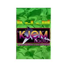 KJEM Radio EQ Green Logo playing  Rectangle Magnet