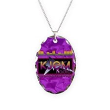 KJEM Radio EQ Purple Logo play Necklace