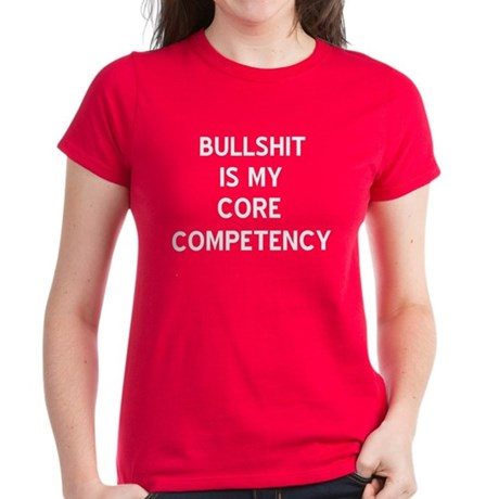 Bullshit Women's Red T-Shirt
