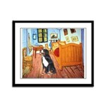 A Room with a Bernese Framed Panel Print