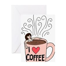 I love coffee Greeting Card
