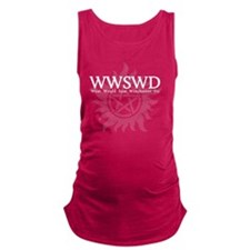 WWSWD What Would Sam Winchester Maternity Tank Top