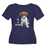 """I Love My Jack Russell"" Women's Plus Size Scoop N"