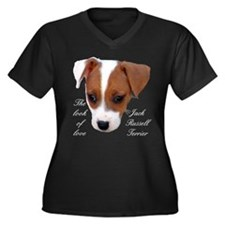 """The Look Of Love"" Women's Plus Size V-Neck Dark T"
