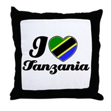 I love Tanzania Throw Pillow