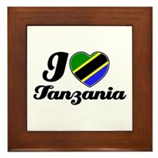 I love Tanzania Framed Tile