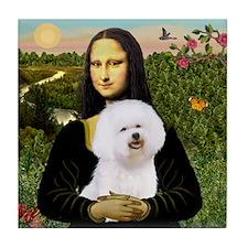 Mona's Bichon Tile Coaster