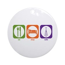 Eat Sleep Radio Ornament (Round)