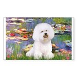 Llies & Bichon Sticker (Rectangle)