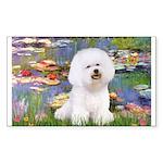 Llies & Bichon Sticker (Rectangle)